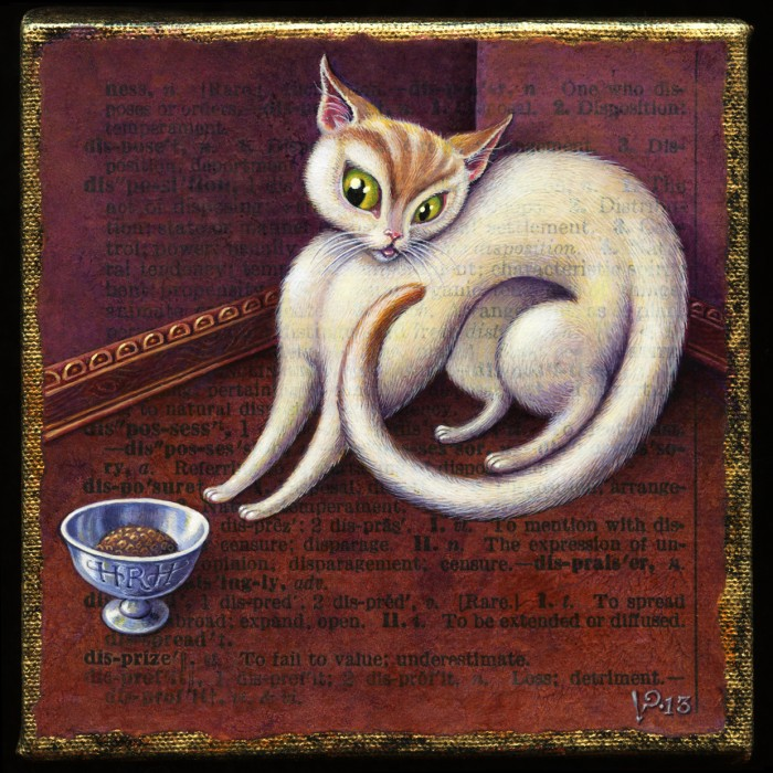 Painting of Cat, Illustration for A Word A Day