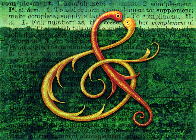 Curiotype Ampersand Digital Art by Leah Palmer Preiss
