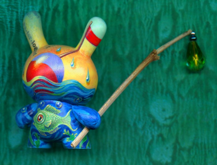 Dunny Waterlogged, custom vinyl toy by Leah Palmer Preiss