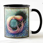 Octopus Mug by Leah Palmer Preiss, Obfuscation Ocean Pollution
