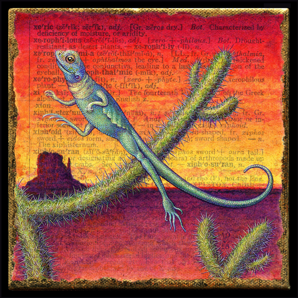 Thursday S Word For A Day Is Xeric I Was Born In Texas So Had No Trouble Envisioning Cacti Lizards But To Get Them Form The Letter X