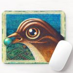 Birdland Mouse Pad by Leah Palmer Preiss, fantasy bird world